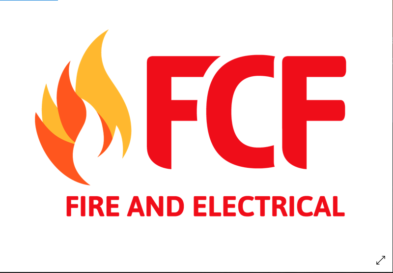 official business logo of FCF FIRE & ELECTRICAL FRASER COAST